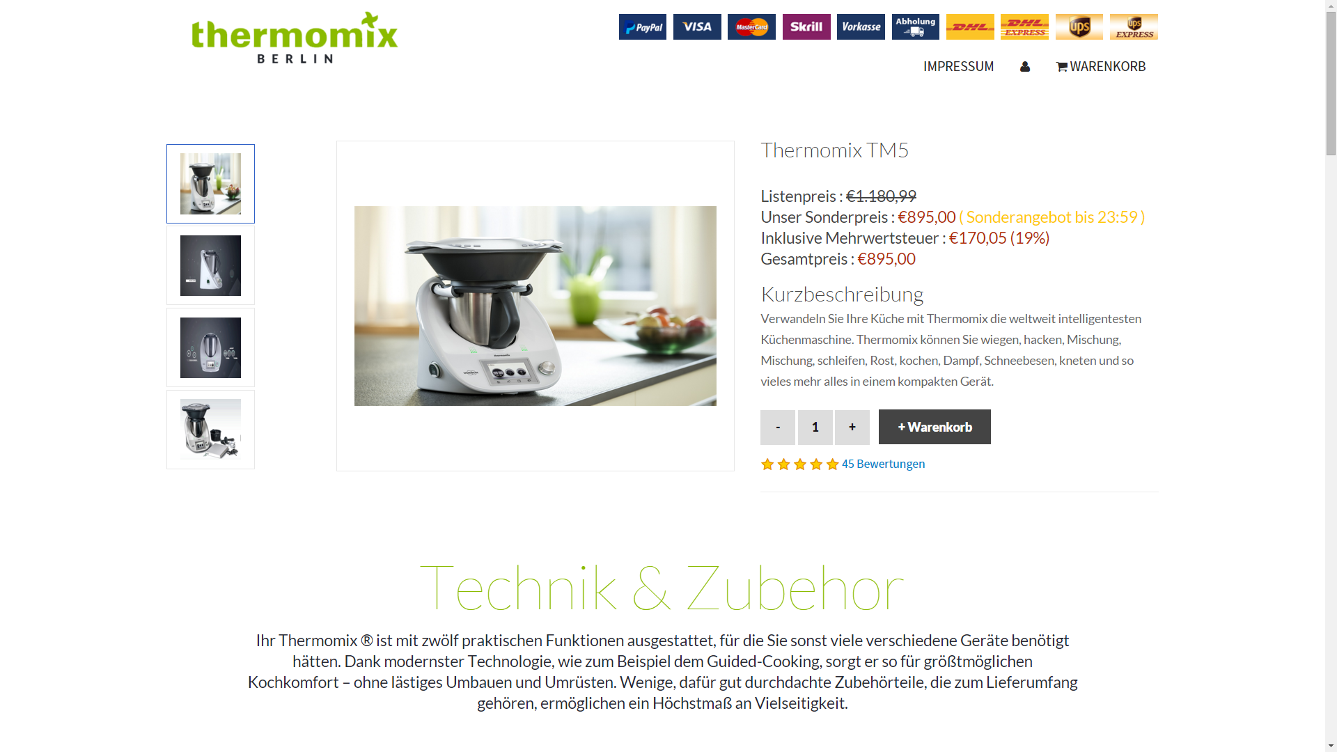 fakeshop thermomix online shops ebay paypal. Black Bedroom Furniture Sets. Home Design Ideas