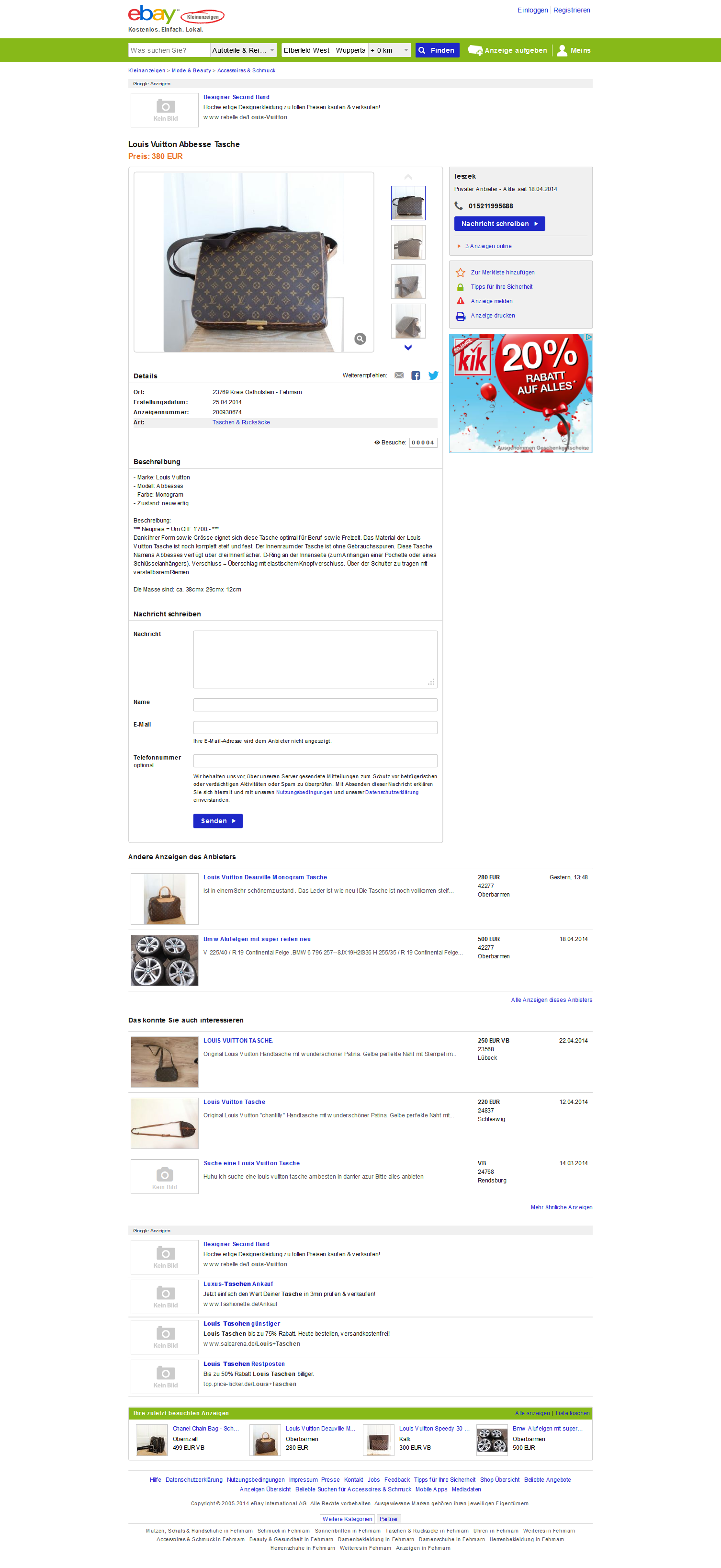 Ebay kleinanzeigen ostholstein | Kostenlose Kleinanzeigen ...
